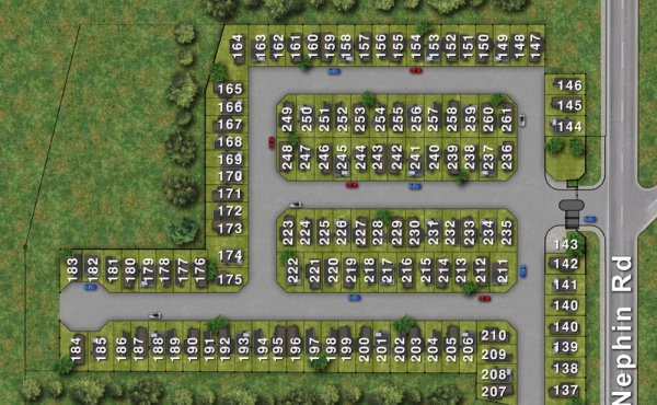 Colourd Site Plan large with Numbers